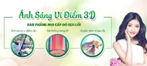 Ánh sáng vi điểm 3D: Công nghệ Hoa kỳ san phẳng sẹo lồi