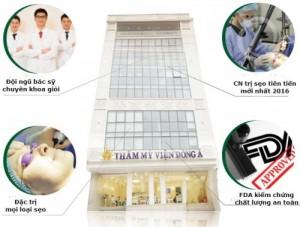 Trị sẹo lồi tại thẩm mỹ viện Đông Á có ưu điểm gì?
