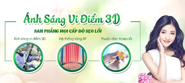 Công nghệ đặc trị sẹo lồi - Ánh sáng vi điểm 3D